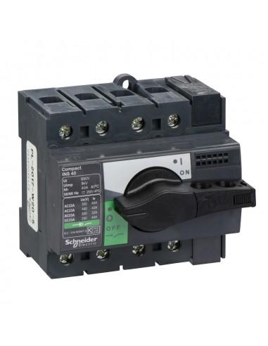 28901 - Interrupteur sectionneur Interpact INS40 4P 40 A - Schneider