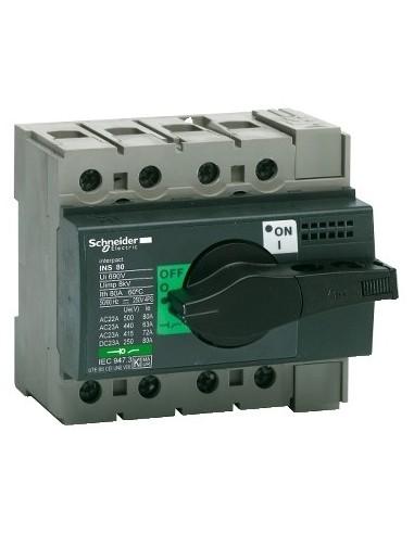 28905 - Interrupteur sectionneur Interpact INS80 4P 80 A - Schneider