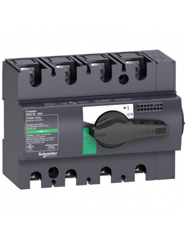 28995 - Compact INSE80 - interrupteur - 40A - 4P - à poignée noire - Schneider