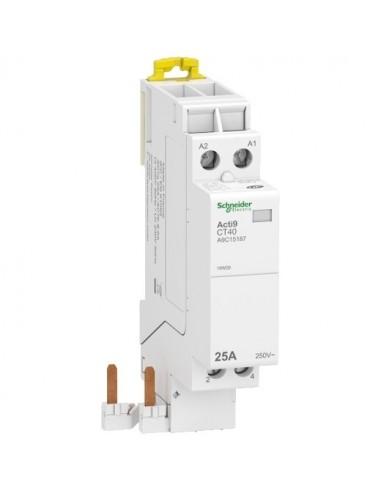 A9C15187 - Acti9 iDT40 CT - contacteur raccordement rapide - 25A 2P contact 2F - 230V - Schneider