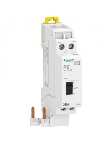 A9C15188 - Acti9 iDT40 CT - contacteur à selecteur - raccord rapid - 25A 2P contact 2F 230V - Schneider