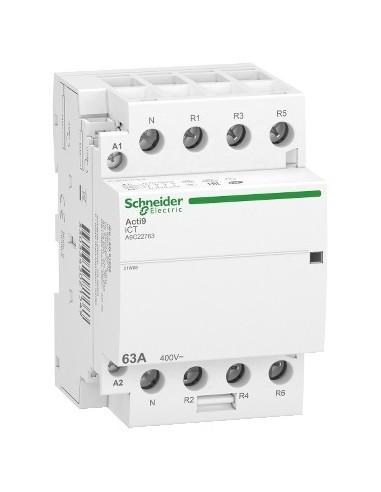 A9C22763 - Acti9 iDT40 CT - contacteur tête de groupe - 63A 3P+N 4NF 230/240VAC 50HZ - Schneider