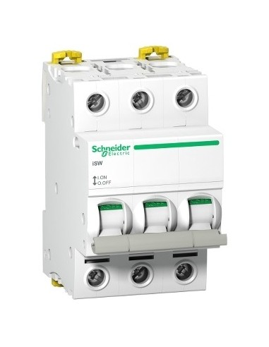 A9S65340 - Acti9, iSW interrupteur-sectionneur 3P 40A 415VAC - Schneider