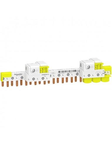 A9XPP612 - Acti9 iDT40 - peigne avec connecteur - 1P+N - 12 modules de 18mm - 80A - Schneider
