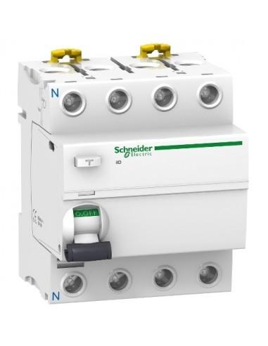 A9R11463 - Acti9, iID interrupteur différentiel 4P 63A 30mA type AC - Schneider