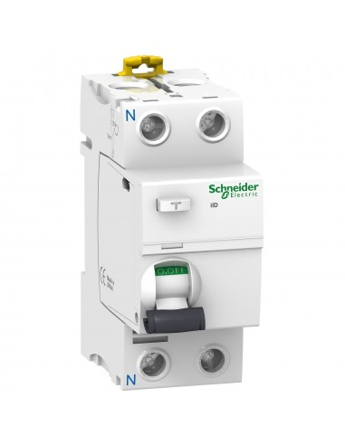 A9R12263 - Acti9, iID interrupteur différentiel 2P 63A 100mA type AC - Schneider