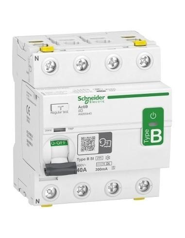 A9Z65440 - Acti9 - interrupteur différentiel - 4P - 40A - 300mA - type B - SI - 400V - Schneider