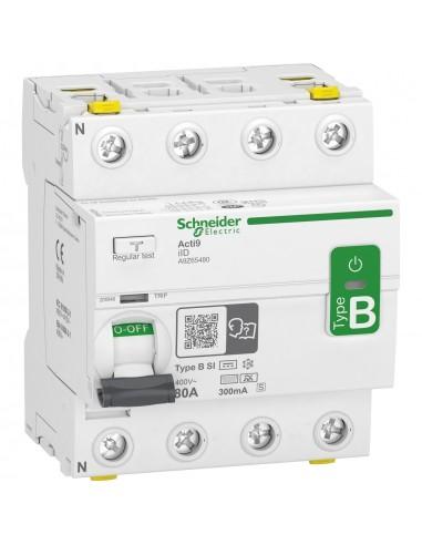 A9Z65480 - Acti9 - interrupteur différentiel - 4P - 80A - 300mA - type B - SI - 400V - Schneider