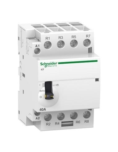 A9C21164 - Acti9, iCT contacteur à commande manuelle 63A 4NO 24VCA 50Hz - Schneider