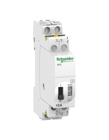 A9C32016 - Acti9, iETL extension pour télérupteur 16A 1NO/NF+1NO 12VCA 6VCC 50-60Hz - Schneider