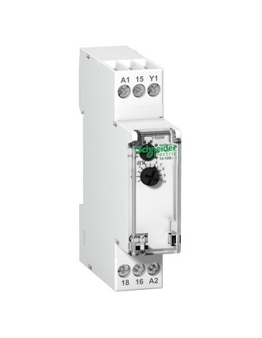 A9E16067 - Acti9, RTC, relais à durée temporisée sur fin d impulsion 1OF 24...240VCA 24VCC - Schneider