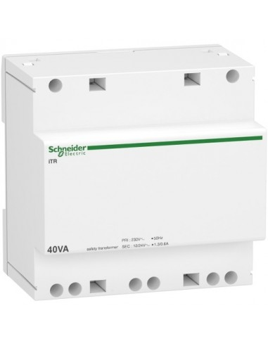 A9A15220 - Acti9 iTR - transformateur de sécurité - 40VA - 230Vca/12-24Vca - Schneider