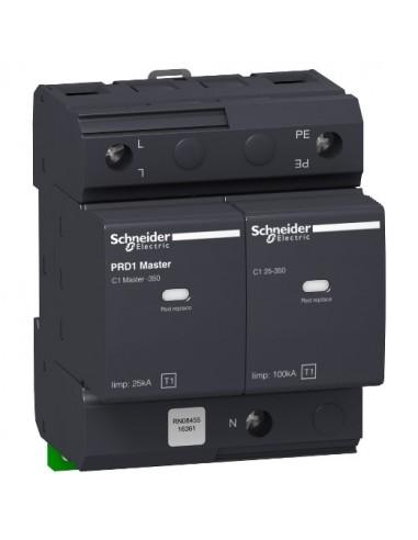 16361 - Acti9 - parafoudre PRD1 Master débrochable - 1P+N - 350V - report signalisation - Schneider