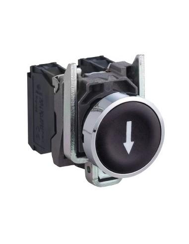 XB4BA3351 - Harmony XB4 - bouton poussoir à impulsion - Ø22 - marqué - noir - 1F - vis - Schneider