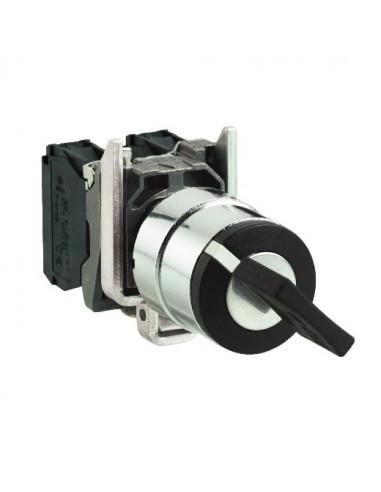 XB4BG2110 - Harmony XB4 - bouton à clé 458A - Ø22 - 2 pos fix - retr G - 1F - vis étrier - Schneider