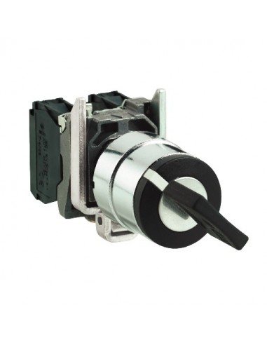 XB4BG2320 - Harmony XB4 - bouton à clé 3131A - Ø22 - 2 pos fix - retr G - 2F - vis étrier - Schneider
