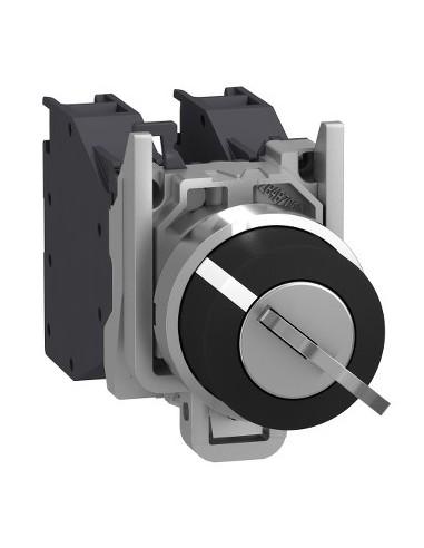 XB4BG41GEX - Harmony XB4 - bouton à clé 455 Atx gaz - Ø22 - 2 pos fix - retr GD - 1F - vis - Schneider