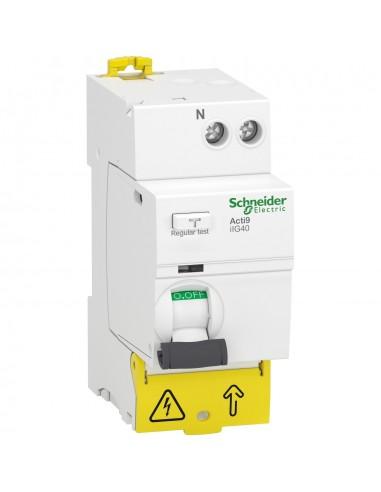 A9R87625 - Acti9 iIG40 - interrupteur différentiel tête de groupe - 1P+N 25A 30mA type A SI - Schneider