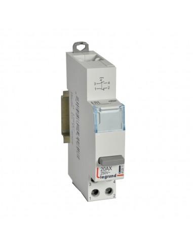 412911 - Inter Poussoir Modulaire Simple Fonction Contact 1No+Nf - 1 Module - Legrand
