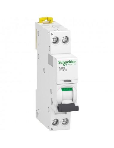 A9P71606 - Acti9 iDT40K - disjoncteur modulaire - 1P+N - 6A - courbe C - 4500A/4,5kA - Schneider