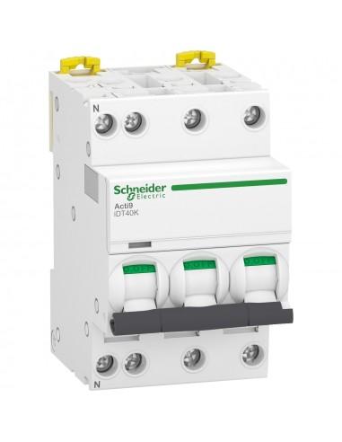 A9P71725 - Acti9 iDT40K - disjoncteur modulaire - 3P+N - 25A - courbe C - 4500A/4,5kA - Schneider