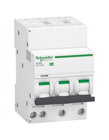 A9PK1725 - Acti9 iDT40K XA - disjoncteur modulaire - auto/vis 3P+N 25A courbe C - 4,5kA - Schneider