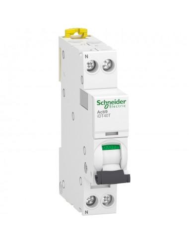 A9P12616 - Acti9 iDT40T - disjoncteur modulaire - 1P+N - 16A - courbe B - 4500A/6kA - Schneider