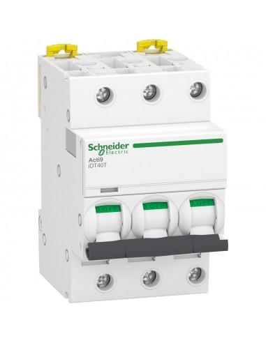 A9P32340 - Acti9 iDT40T - disjoncteur modulaire - 3P - 40A - courbe D - 4500A/6kA - Schneider