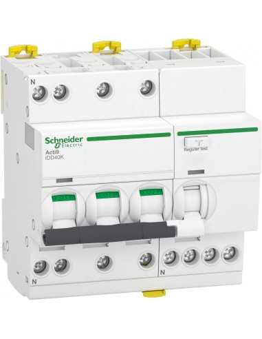 A9DK1720 - Acti9 iDD40K - disjoncteur différentiel - 3P+N C 20A 4500A/4,5A 30mA type AC - Schneider