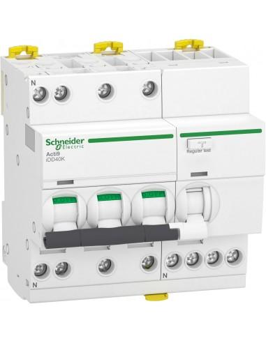 A9DK5732 - Acti9 iDD40K - disjoncteur différentiel - 3P+N C 32A 4500A/4,5A 300mA type AC - Schneider