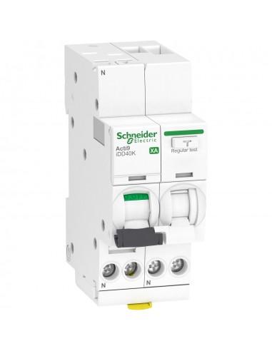 A9DS1616 - ACTI9 iDD40K XA - disjoncteur différentiel auto - 1P+N C 16A 4500A/4,5kA 30mA AC - Schneider