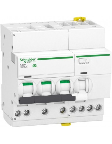 A9DS5720 - ACTI9 iDD40K XA - disjoncteur différentiel auto - 3P+N C 20A 4,5kA 300mA type AC - Schneider