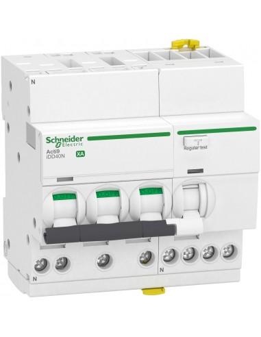 A9DQ3716 - ACTI9 iDD40N XA - disjoncteur différentiel auto - 3P+N C 16A 10kA 30mA type A SI - Schneider