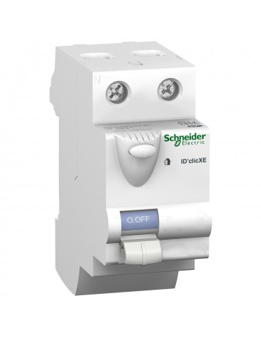 16158 - Duoline Xe. Interrupteur Differentiel Id'Clic 2P 40A. 30Ma. Type A. Embrochable - Schneider - DESTOCK