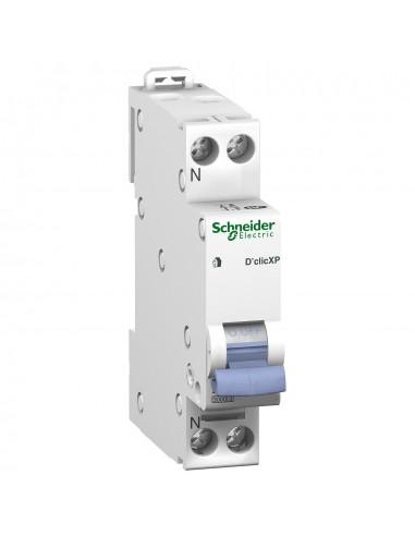 20727 - Duoline XP. Disjoncteur D'Clic 1P+N 20A. Courbe C. Peignable - Schneider - DESTOCK