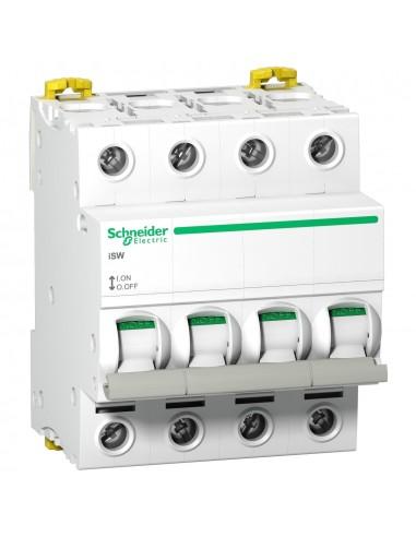 A9S65463 - Acti9, ISW Interrupteur-Sectionneur 4P 63A 415Vac - Schneider - DESTOCK